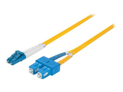 Intellinet Fibre Optic Patch Cable, Duplex, Single-Mode, LC/SC, 9/125 ?m, OS2, 2m, LSZH, Yellow - patch cable - 2 m - y…