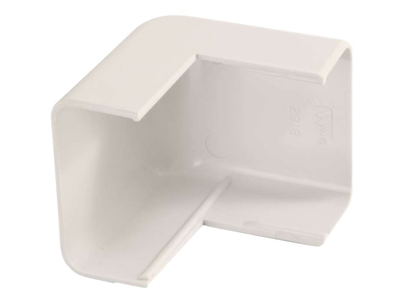 C2G Wiremold Uniduct 2900 External Elbow - Fog White - cable raceway outside corner