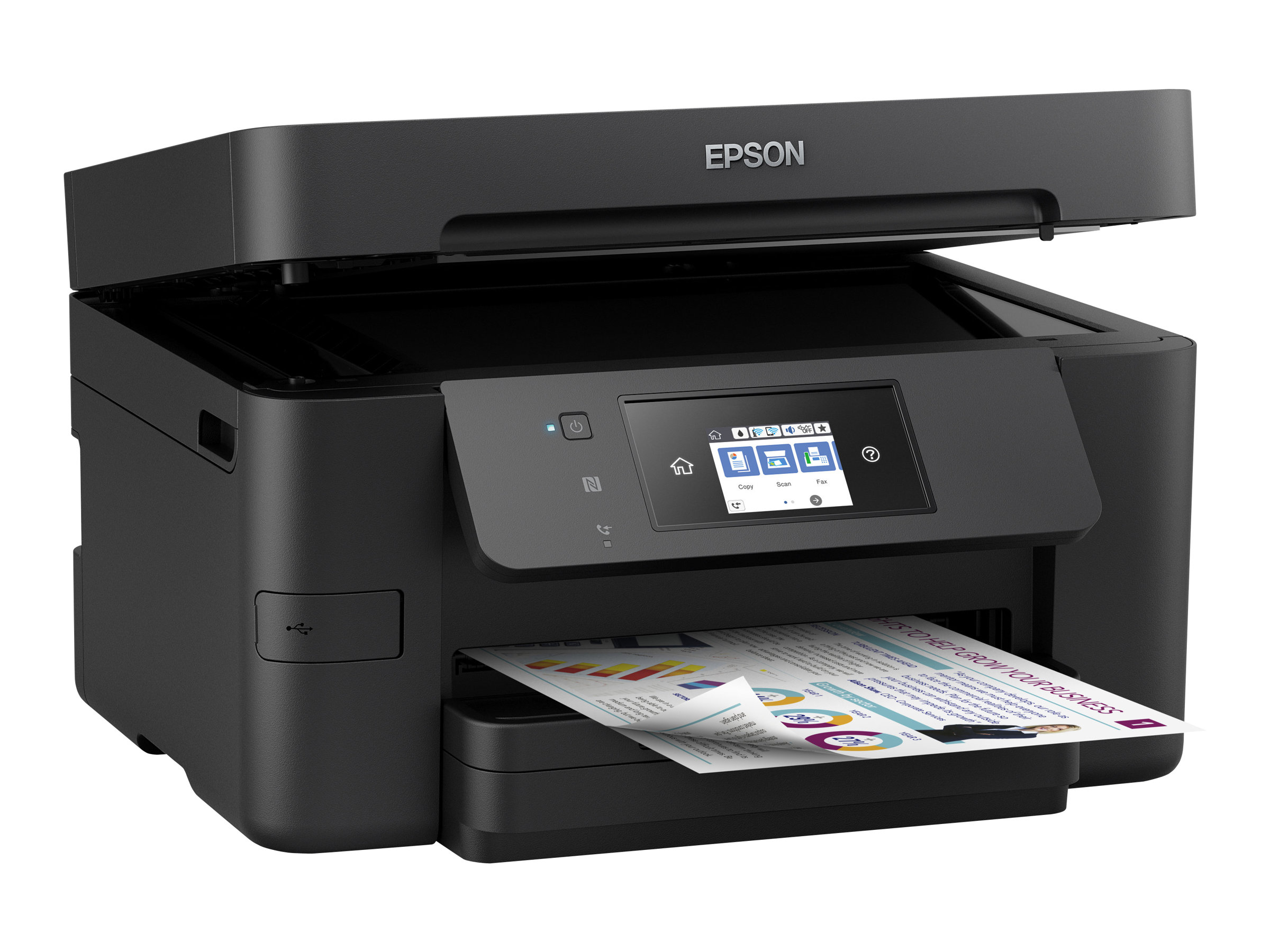 Imprimante EPSON WorkForce Pro WF 4720 DWF vue 3/4 gauche