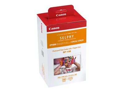 Canon RP-108 2-pack print ribbon cassette and paper kit