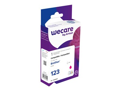 compatibles Brother  Brother LC123 - compatible Wecare K12654W4 - magenta - cartouche d'encre