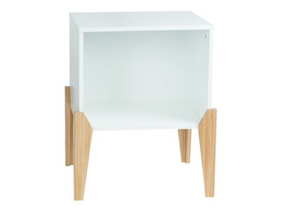 ürb SPACE Storage unit cube MDF, rubber wood white