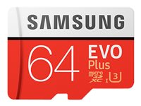 Samsung EVO Plus MB-MC64G - Flash memory card (microSDXC to SD adapter included)