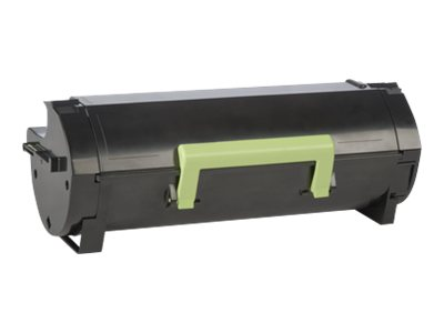 Lexmark 501U Ultra High Yield black original toner cartridge LCCP, LRP