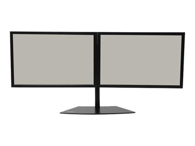 StarTech.com Dual Monitor Stand for up to 24INCH Monitors Horizontal Black