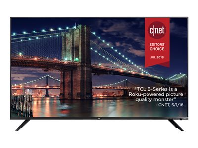 TCL 55R617 55INCH Class (54.6INCH viewable) 6 Series LED TV Smart TV Roku TV