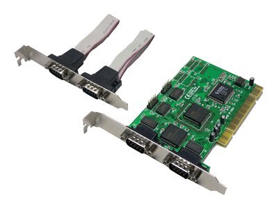 LogiLink PCI to Serial 4-port Controller Card - Parallel-Adapter - PCI - RS-232 x 4