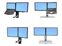 "Ergotron WorkFit Convert-to-Dual Kit from LCD & Laptop, for WorkFit-S or WorkFit-C - Befestigungskit (22"")"