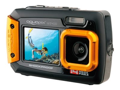 Easypix W1400 Active 14Megapixel Orange Orange Sort Digitalkamera