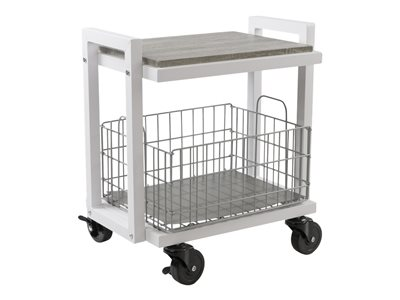 ürb SPACE Trolley 2 shelves 2 tiers powder-coated steel white