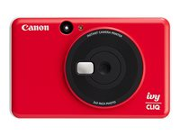 Canon ivy CLIQ Digital camera compact with photo printer 5.0 MP ladybug red