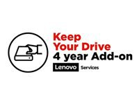 Lenovo Keep Your Drive Add On - Extended service agreement - 4 years - for ThinkPad X1 Carbon (7th Gen); X1 Extreme (2nd Gen); X1 Yoga (4th Gen); X390 Yoga