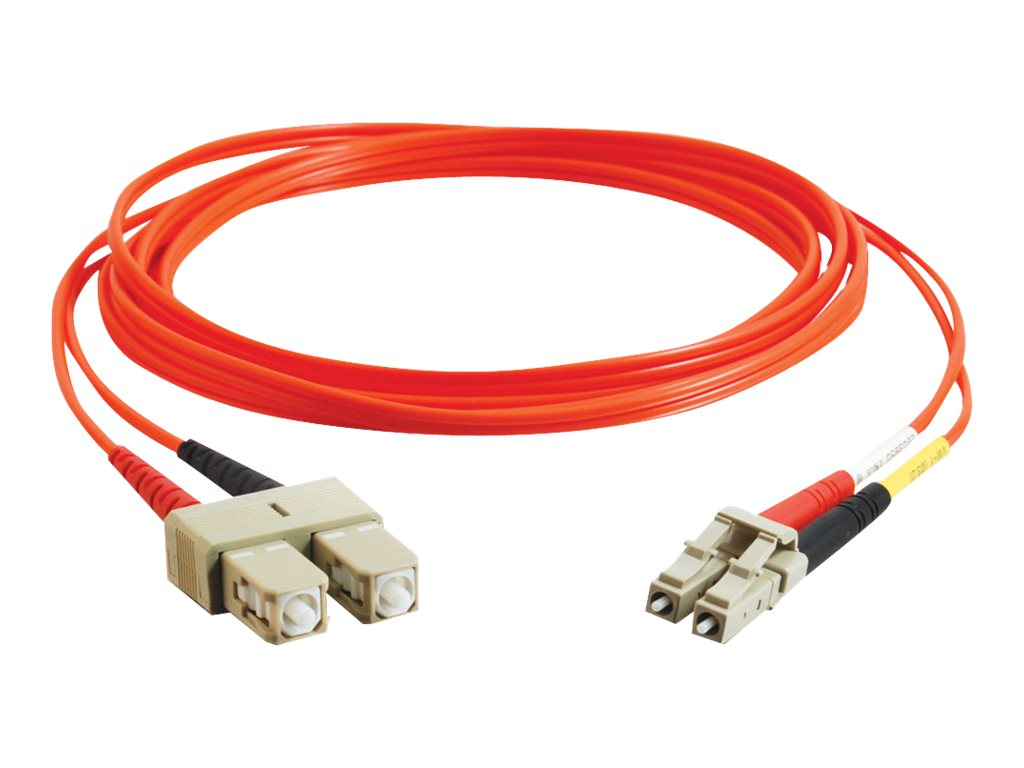 C2G 10m LC-SC 62.5/125 Duplex Multimode OM1 Fiber Cable - Orange - 33ft - patch cable - 10 m
