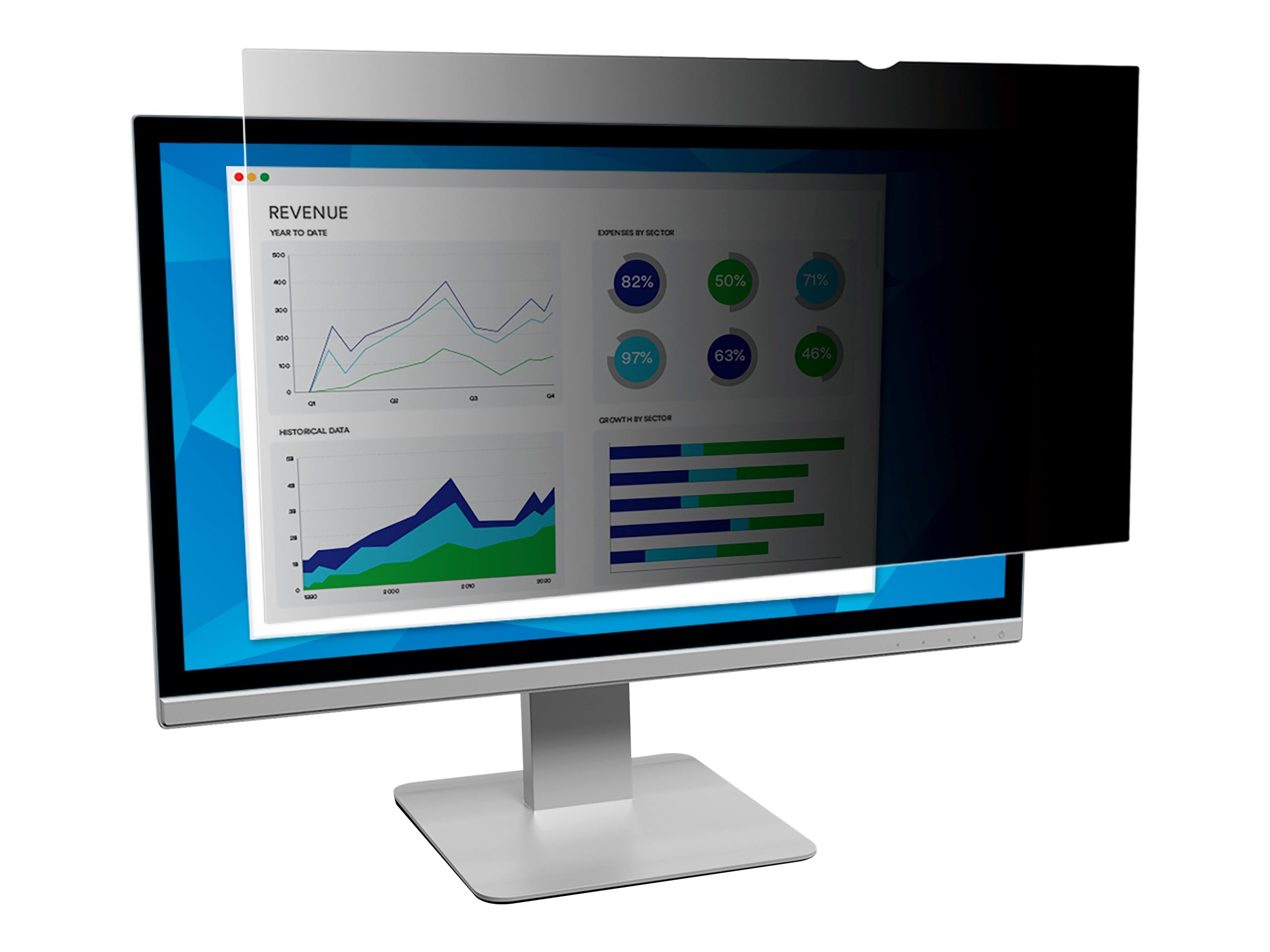 """3M Privacy Filter for 23.8"""" Widescreen Monitor - display privacy filter - 23.8"""" wide"""