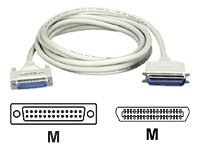 Black Box - Printer cable - 36 pin Centronics (M) to DB-25 (M) - 10 ft - 90° connector, molded, thumbscrews