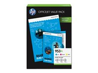 HP 953XL Office Value Pack Farve (cyan, magenta, gul)