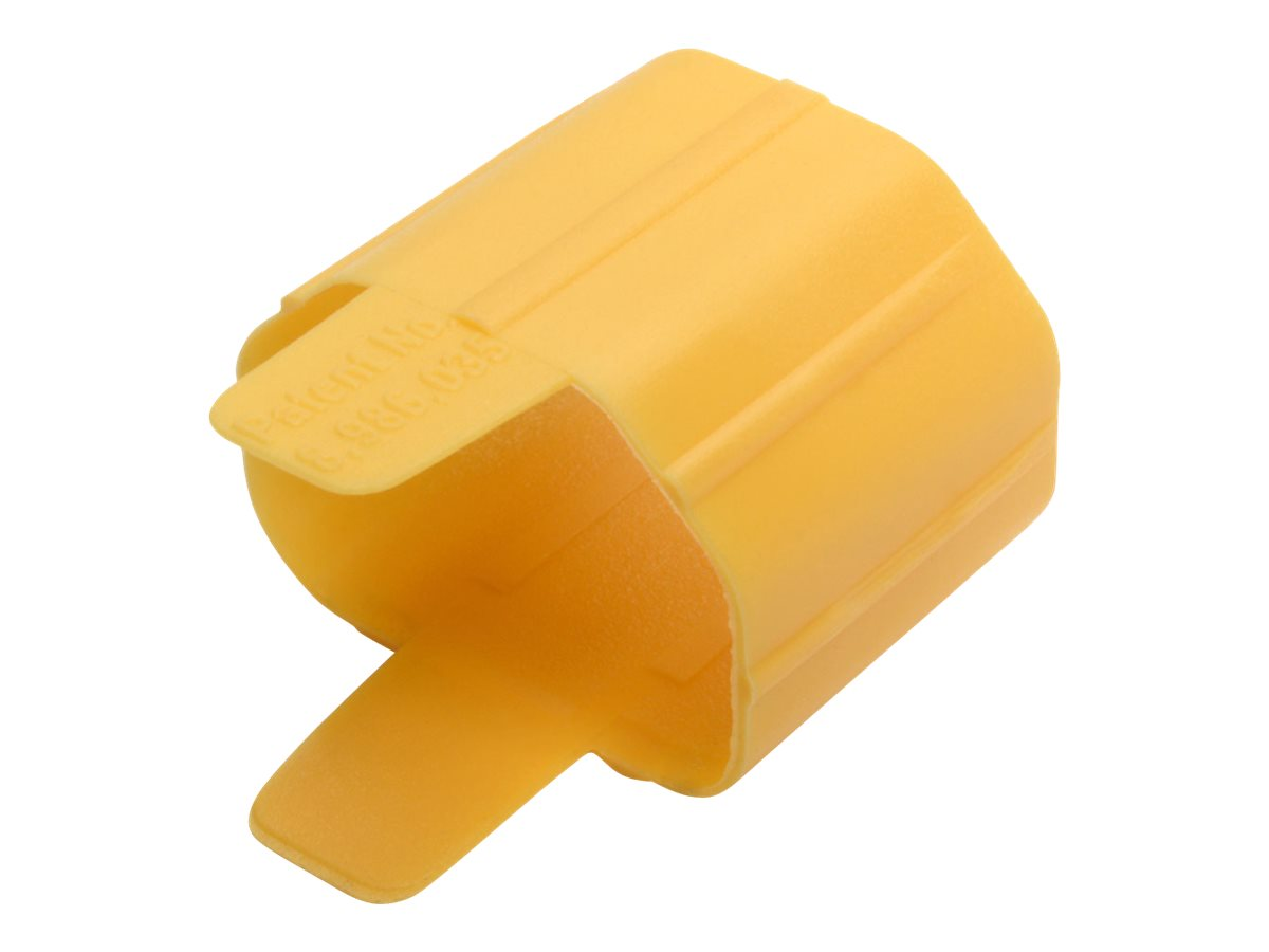 Tripp Lite Plug-Lock Inserts, Detachable C13 Power Cord/C14 Inlet, Yellow, 100 Pack cable removal lock