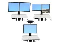 Ergotron WorkFit-C Convert-to-Single HD Kit from Dual or LCD & Laptop - Mounting component (conversion kit) for LCD display