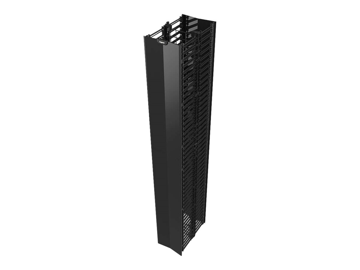 """Legrand Q-Series Vertical Manager, 7' H X 4"""" W rack cable management panel - 45U"""
