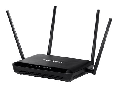 TRENDnet TEW-827DRU AC2600 StreamBoost MU-MIMO WiFi Router Wireless router 4-port switch