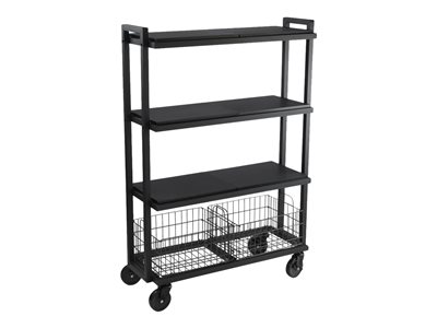 ürb SPACE Trolley 4 shelves 4 tiers powder-coated steel black