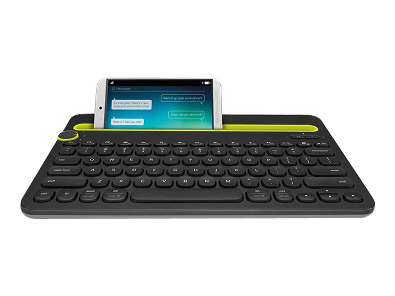 Logitech Multi-Device K480 - Tastatur - Bluetooth - Deutsch - Schwarz