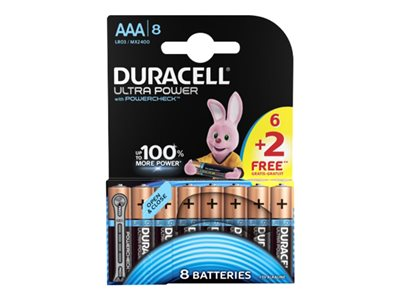 Piles & Chargeurs Duracell Ultra Power LR06 - 6 piles + 2 gratuites - AAA