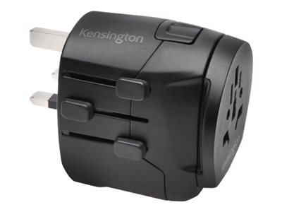 Kensington International Travel Adapter - Grounded (3-Prong) with Dual USB Ports power adapter - BS 1363, CEE 7/7, NEMA 5-15, AS/NZS 3112, 2 x USB