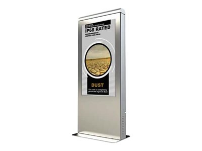 Peerless Xtreme Outdoor Portrait Kiosk 49INCH Class LED display digital signage outdoor