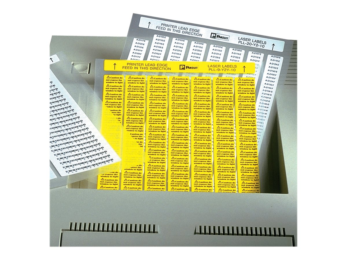 Panduit - component labels - 25 sheet(s) - 215.9 x 279.4 mm