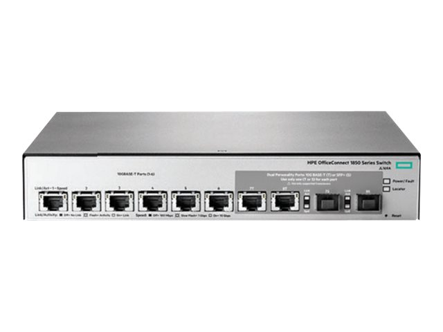 HPE OfficeConnect 1850 6XGT and 2XGT/SPF+ - switch - 6 ports - managed - rack-mountable