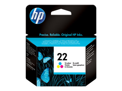 HP 22 5 ml dye-based tricolor original blister ink cartridge