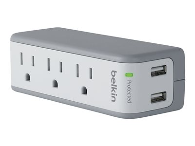 Belkin 3-Outlet Mini Surge Protector with USB Ports (2.1 AMP) Surge protector