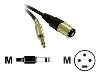 C2G Pro-Audio 25ft Pro-Audio XLR Male to 1/4in Male Cable Audio cable