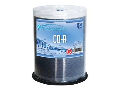 Optical Quantum BP Liquid-Defense 100 x CD-R 700 MB (80min) 52x silver