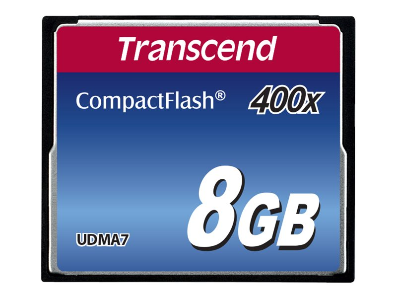 Transcend - Flash-Speicherkarte - 8 GB - 400x - CompactFlash