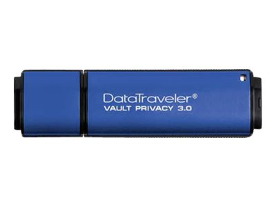 Kingston DataTraveler Vault Privacy 3.0 - USB-Flash-Laufwerk - verschlüsselt - 8 GB - USB 3.0