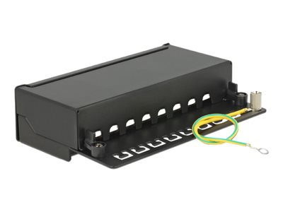 Delock Desktop Patch Panel 8 Port Cat.6A black