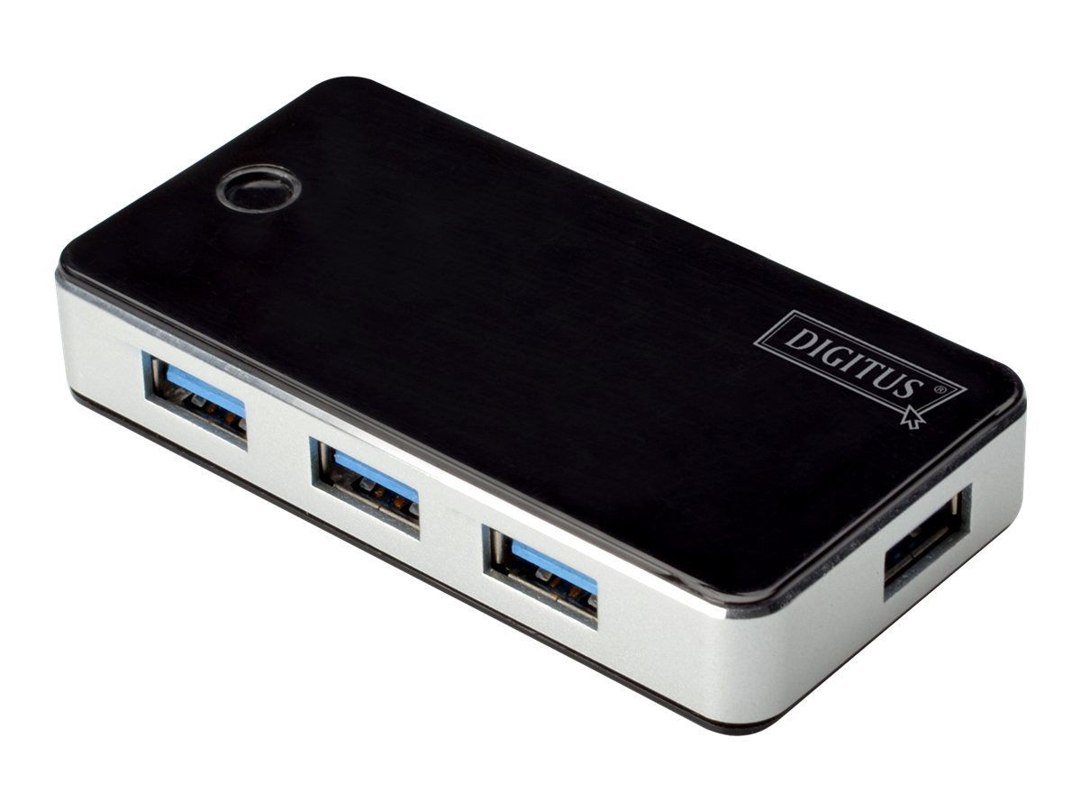 DIGITUS DA-70231 - Hub - 4 x SuperSpeed USB 3.0 - Desktop