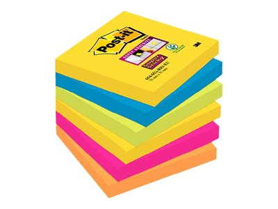 Notes repositionnables Notes Super Sticky Post-it Rio - 76 x 76 mm - 6 blocs
