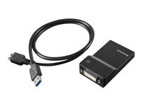 Lenovo USB 3.0 to DVI/VGA Monitor Adapter - External video adapter - USB 3.0 - DVI - for IdeaPad Miix 510-12; 710-12; Miix 520-12; ThinkCentre M75; ThinkPad E595; P53