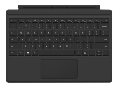 Microsoft Surface Pro Type Cover (M1725) - keyboard - with trackpad, accelerometer - QWERTZ - German - black