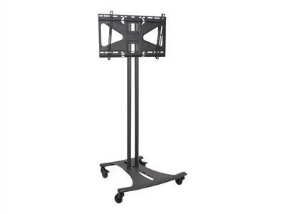 Premier Mounts EBC72-MS2 Cart (cart base, 2 poles, tilt mounting plate) for LCD display black