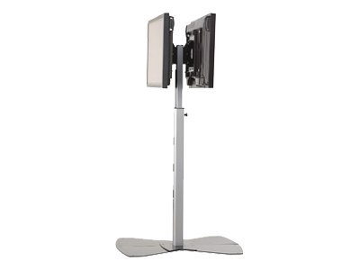 Chief MF2-US Stand for dual flat panel aluminum silver floor-standing