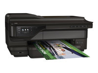 HP Officejet 7612 Wide Format e-All-in-One - Multifunction printer - colour - ink-jet - A3/Ledger (297 x 432 mm) (original) - 330.2 x 1117.6 mm (media) - up to 33 ppm (copying) - up to 33 ppm (printing) - 250 sheets - 33.6 Kbps - USB 2.0, LAN, Wi-Fi(n), USB host