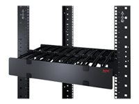 APC Horizontal Cable Manager Single-Sided with Cover - Rack