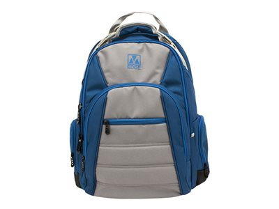 M-Edge Cargo Backpack with Battery Notebook carrying backpack 17INCH blue, silver