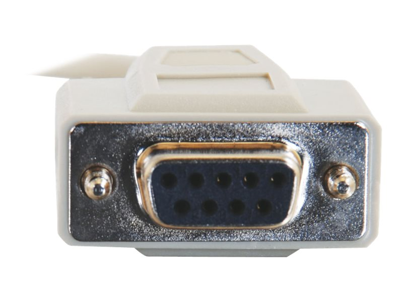 C2G - null modem cable - DB-9 to DB-9 - 31 cm