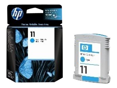 HP 11 - 28 ml - cyan - originale - cartouche d'encre - pour Business Inkjet 1000, 1100, 1200, 2300, 2800; DesignJet 11X, 70; Officejet Pro K850