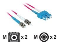 C2G 2m SC-ST 9/125 Duplex Single Mode OS2 Fiber Cable - Plenum CMP-Rated - Red - 6ft - patch cable - 2 m - red